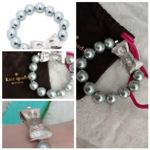 Kate Spade All Wrapped Up Bracelet silver bow